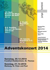 """Junge Kantorei Adventskonzert 2014: Auf, auf, ihr Herzen, seid bereit"""""""